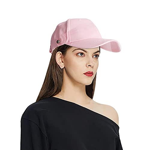WOGOGO Sicherheits-Gesichtsschutzkappe, Speichelschutz, transparent, abnehmbar, C-pink