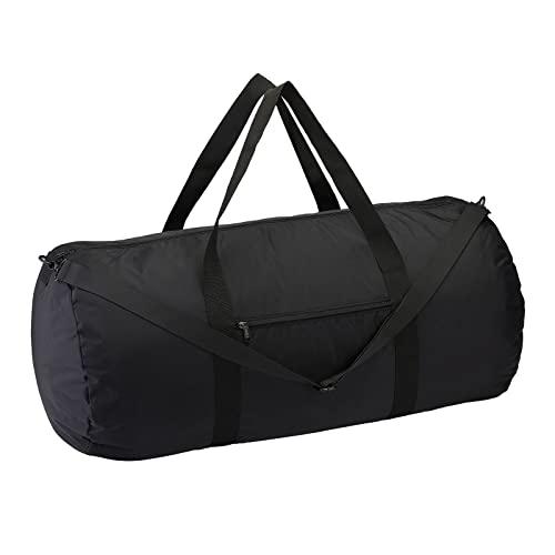 Vorspack Duffel Bag Foldable Lightweight Gym Bag with Inner Pocket for Travel Sports - Black