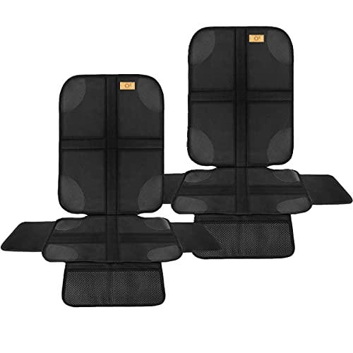 Sitzschoner Auto Kindersitz ● 2 Stück Autositzschoner Isofix ● Rutschfeste Autositz-Schutz-Unterlage ● Rücksitzschoner für Babyschale, Kindersitz und Haustiere