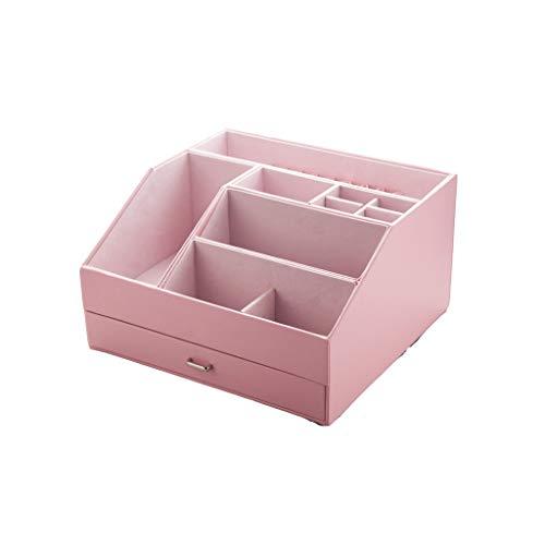 Vernis à ongles Rouge À Lèvres Boîte De Rangement Maquillage Organisateur Cosmétique Bijoux Cas Tiroir Bureau Divers Articles Conteneur (Color : Pink, Taille : Large)