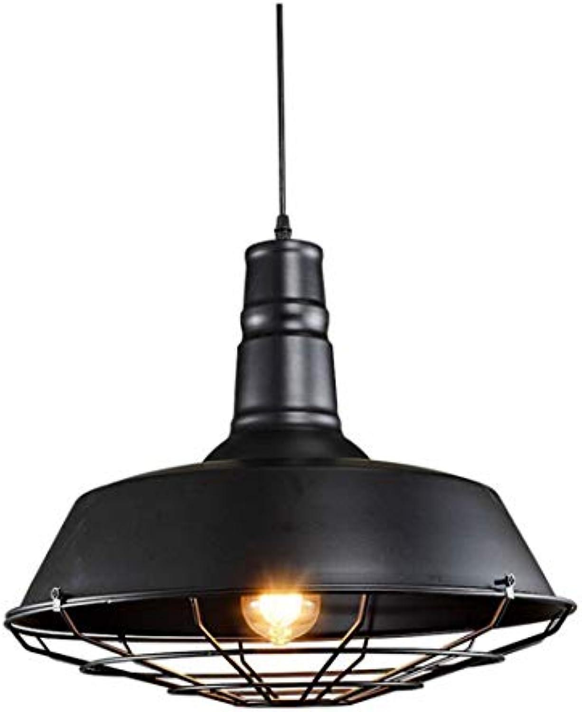 Led-leuchten Edison Lichter Retro Pot Kronleuchter Gang Bar Einteiliges Eisen Handwerk Schatten Schwarz Led Deckenleuchte (gre  36 Cm)