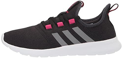 adidas Women's Cloudfoam Pure 2.0 Running Shoe, Black/Iron Metallic/Team Real Magenta, 8.5