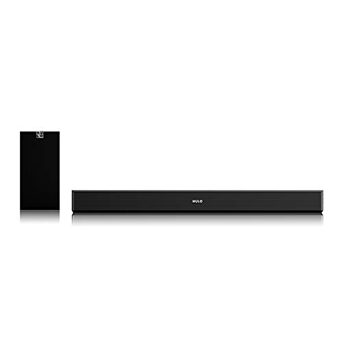Mulo Arena 5000 2.1 Channel Soundbar with Subwoofer,Bluetooth/AUX-in/USB, Remote Control and Wall Mounting Kit (Black)