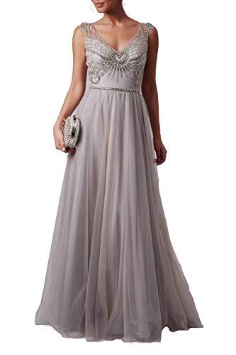 Mascara Silber mc165090 v Hals perlen top Kleid