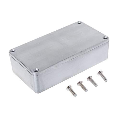 YoungerY (1pc 112X60X31MM Musikinstrumentengehäuse Aluminium-Druckguss, kleine quadratische Schachteln, Musikinstrumentengehäuse