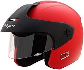 Vega Buds Open Face Helmet (Red, XS)