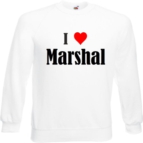 Reifen-Markt Sweatshirt I Love Marshal Größe 2XL Farbe Weiss Druck Schwarz