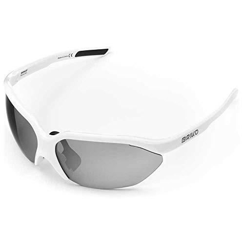 Briko Galaxy 2 Lenses Gafas Sol Ciclismo, Unisex Adulto, Off White, One