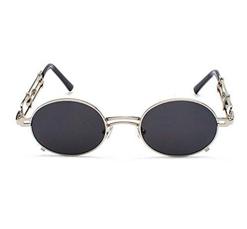 Hellomiko Retro Vintage Steampunk Trend Persönlichkeit Objektiv Sonnenbrille Oval Rahmen UV400 nicht polarisiert