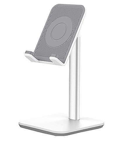 KAVERIL - Supporto regolabile per telefono cellulare, supporto da scrivania, supporto per cellulare, compatibile con iPhone Xs Xr 8 X 7 6 6s Plus SE 5 5s 5c, tutti gli smartphone, colore: Nero