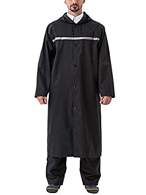 MAGCOMSEN Rain Jacket Mens Packable Lightweight Raincoats for Men Raincoat Men Waterproof with Hood by
