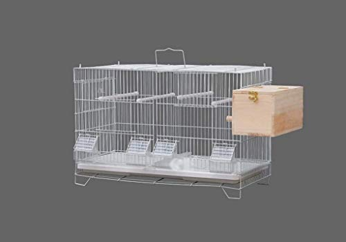Vögel Zuchtboxen, Pet Hospital Park School Metal Parrot Cages Rechteck leicht zu reinigen mit Tray Robuste Vogelkäfige (Farbe: A, Größe: 39.5 * 26 * 59.5cm) 8bayfa