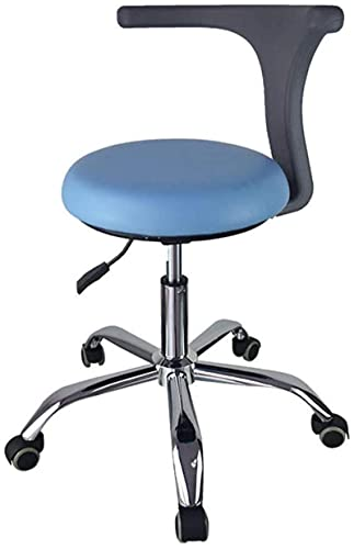 chair Bar Stool Medical Dental Stool Dentist Chair with 360 Degree Rotation Armrest PU Leather Assistant Stool Chair Height Adjustable from 43 to 56cm,E (Color : D) (Color : C)