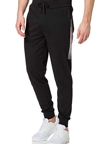 BOSS Herren Authentic Pants Loungewear-Hose mit Beinbündchen und heißversiegeltem Logo-Artwork