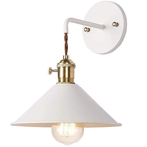 Seeksung Aplique Pared, Iluminación Decorativa Industrial Vintage con Pantalla De Hieraro Forjado, Lámpara De Pared...