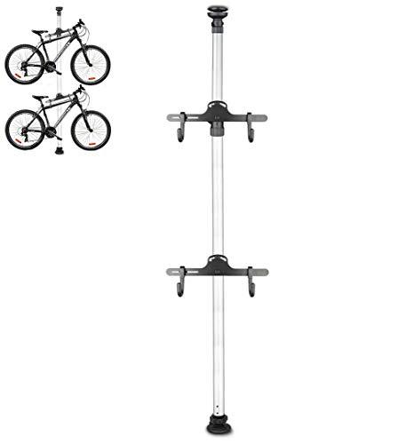 Estante de estacionamiento de Bicicletas Interior Estante de exhibición de Bicicletas Vertical exhibición de reparación de Bicicletas de Carretera de montaña aleación de Aluminio Plateado