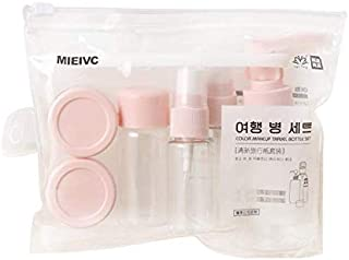 9PCS Portable Travel set Bottle Cosmetic Empty Bottle (Press Bottle & Spray Bottle & Small Watering Can)