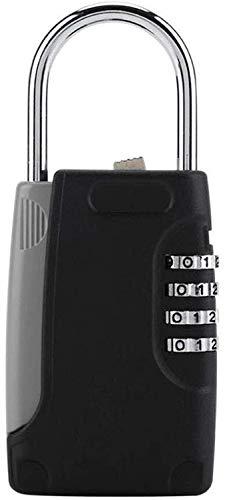 Wuyeti Chiave di Una Cassetta Piccolo Hanging Password Chiave di Sicurezza Mini Esterna Lock Box, Heavy Metal Fascio Storage Box Decorazione Domestica Parete Key Storage Box Nero