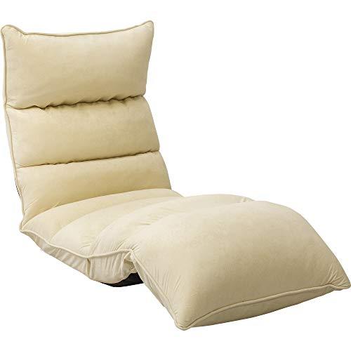 アイリスプラザ リクライニング座椅子 低反発 折りたたみ収納 アイボリー 背もたれ高さ16~69×長さ約109~166×厚さ約16cm YCK-001