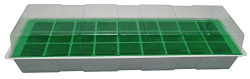 Biotop Kit semillero de plástico de 27 macetas de 4 x 4 cm (con Tapa y Bandeja, 49 x 15,5 cm), B2014