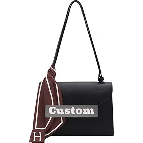 RXDZ Monedero personalizado para niñas de piel rosa pequeño bolso bandolera para mujer pequeño (color: negro, tamaño: talla única)