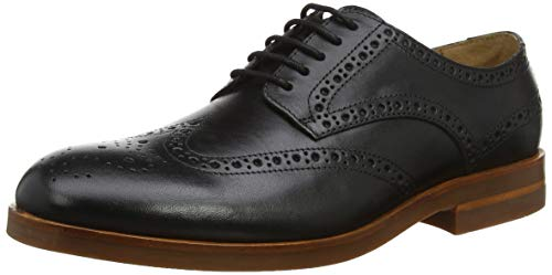 H by Hudson Balleter, Brogues Homme, Noir (Black 01), 46 EU