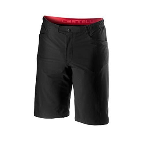 castelli Unlimited Baggy Pantalones Cortos, Hombre, Negro, L