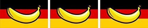 Michael & Rene Pflüger Barmstedt - 3X Mini Premium Aufkleber Deutschland Banane Bananenrepublik Sticker Auto Motorrad Fahrrad Bike auch für Dampfer E-Zigarette Sisha