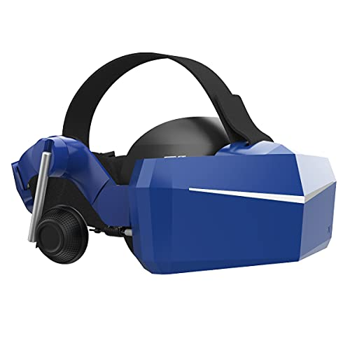 Pimax Vision 8K X VR Headset with Dual Native 4K CLPL Displays, 200 Degrees FOV, Fast-Switched Gaming RGB Pixel Matrix Panels for PC VR Steam Games Videos, USB Powered, KDMAS Audio Strap.