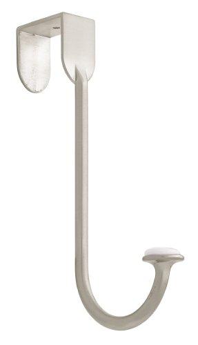 Liberty BBF430Z-SN-U Single Over-the-Door Hook, Satin Nickel