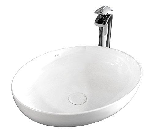 Design Keramik Oval Waschtisch Handwaschbecken Aufsatz-Waschschale 51x39x13,5 FÜR BADEZIMMER GÄSTE WC Carola