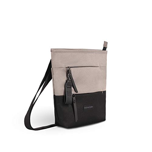 Sherpani Sadie, Nylon Crossbody Bag, Essential Messenger Bag, Shoulder Bag, Medium Crossbody Purse for Women, RFID Protection (Champagne)