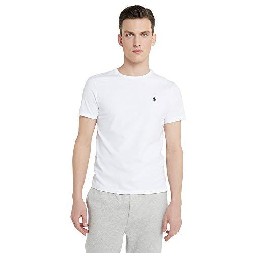 Ralph Lauren Camiseta para Hombre Custom Fit (XL, Blanco)