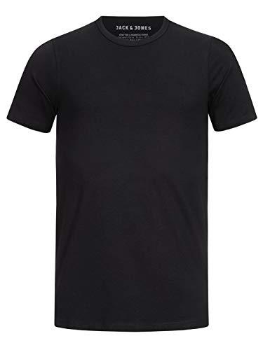 Jack & Jones Jones - Camiseta de manga corta con cuello redondo para hombre, Black C N 010, Medium
