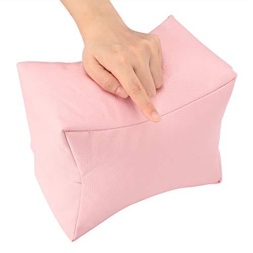 Handauflage Kissen, Handkissen, Armhalter Armlehnenhalter Maniküre Nail Art PU Leder für Home Salon Pediküre(Pink)