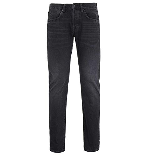 Edwin ED-55 Red Selvage Schwarz Ragny Wash Regular Tapered Denim Jeans
