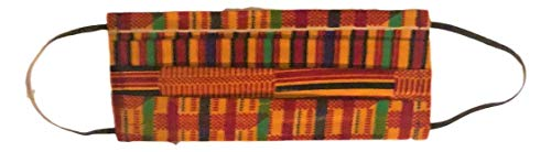 Face Mouth Scarf cover,Ghana Kente Cloth mask Face Scarf for dust outdoor Skateboarding Scooting Africa Ethnic Unisex cloth Face mask Scarf Bandanas Headwear Tribal African kente mask
