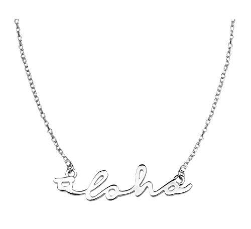 SOFIA MILANI Damen Halskette Aloha Hawaii Anhänger Silber 50272