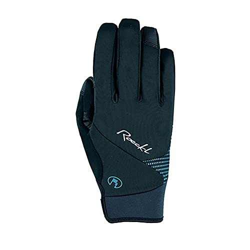 Roeckl Wolga Damen Winter Fahrrad Handschuhe schwarz/tÃŒrkis 2022: Größe: 7