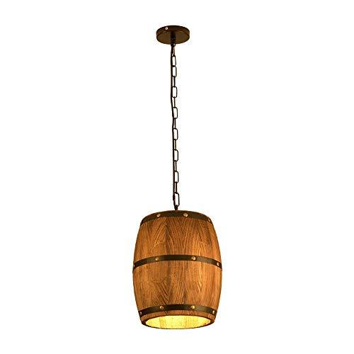 Xungzl Forma de Barril de Vino Araña Hecha a Mano Chandelier marrón de la Cabeza de la Cabeza de la luz de la Cabeza de la lámpara de Ahorro de energía Creativo Bar Cafe Decoración del Hotel Lámparas