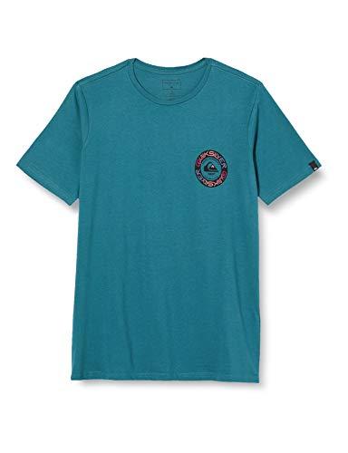 Quiksilver Jungen Time Circle-T-Shirt 8-16, Blue Coral, S/10