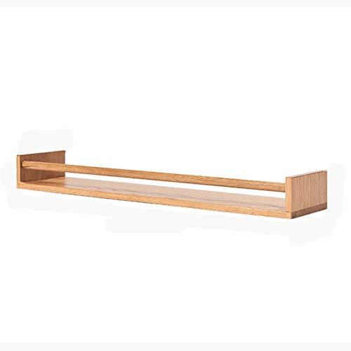 L&T Estantes flotantes de madera rústica, vintage para colgar en la pared, estantes de madera, estantes de almacenamiento resistentes para dormitorio, cocina, 80 cm