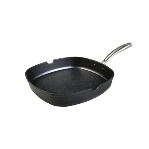 Wecook 10438 Grill Liso, 35X28X10 Cm, Negro