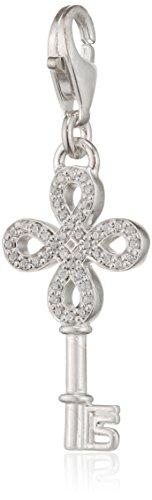THOMAS SABO Damen-Anhänger Unendlichkeit Schlüssel 925 Silber Zirkonia weiß - 1360-051-14