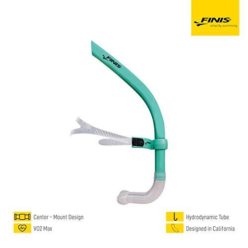 Finis Glide Tubo de respiración para natación, Unisex, Verde Menta