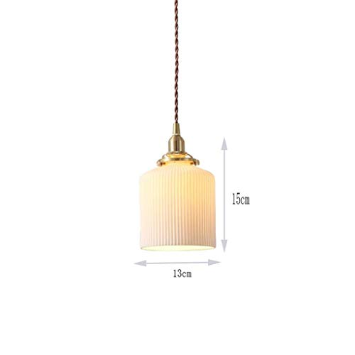Luces pendientes, nórdico minimalista restaurante de la lámpara post-moderna de cobre de la lámpara de noche Crocs (Color : White Light)