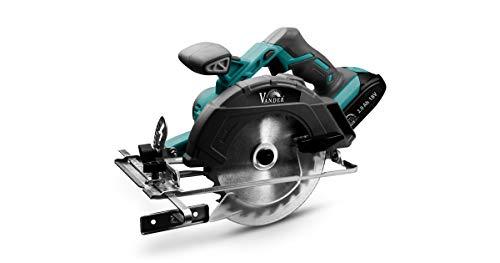 VANDER AKU+ VPT817 - Sierra Circular sin Cable (18V | Velocidad: 3800 1/min | Hoja de Sierra: 165mm | Profundidad del Corte: 54mm | sin Batería/Cargador)