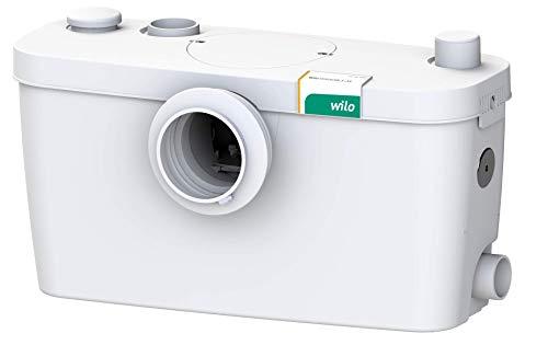 Wilo-HiSewlift 3-35, kompakte Abwasser-Hebeanlage mit Schneidwerk für fäkalienhaltiges Abwasser, zur Entwässerung von Toiletten, Duschen und Waschbecken, 3 Anschlüsse, 5200l/h, 0, 8 bar, 400W