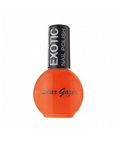 Horror-Shop Schnelltrocknender Stargazer Nagellack Exotic Orange Farbnummer 256