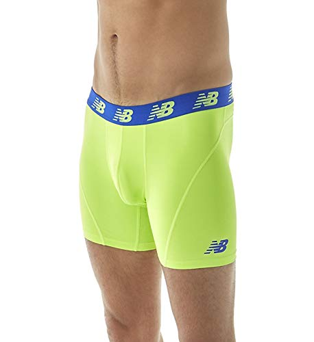 New Balance Men's Standard Boxer Briefs, Toxic Green, Small / 29-31 Inches